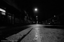 City sickness 171 - Empty street from the pavement in the night