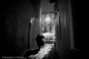 Dream no. 38 - Figure and his shadow in a narrow alley