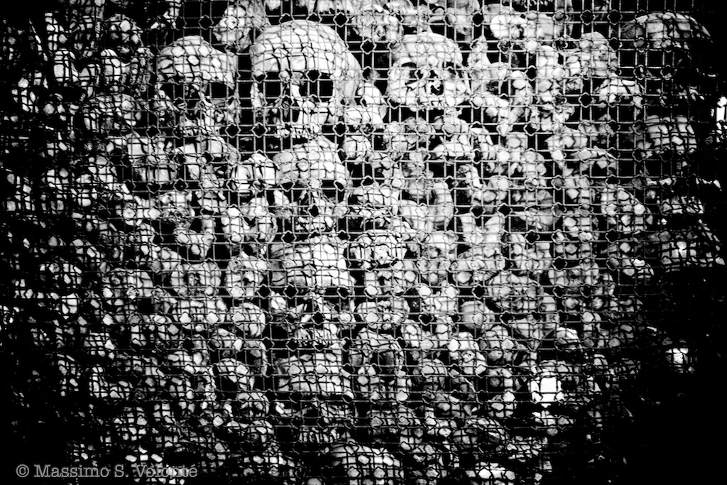 In a maze - Skulls and bone in the San Bernardino's church, Milano, Italy