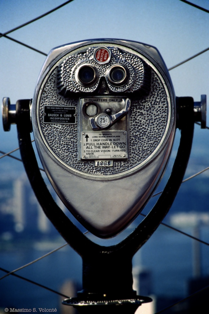 Self-portrait 50 - Empire state building binocular unit, NYC