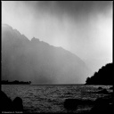 Lake of Lecco (Italy) viewed under a storm