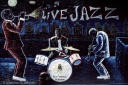 Washington sq. in NYC graffiti live jazz