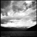 Como lake view under a cloudy sky