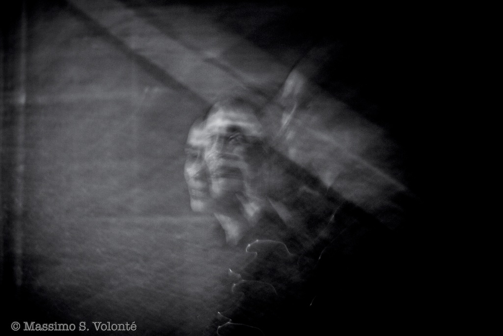 Woman in blurred multiples