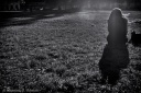 volonte photographer milano - woman alone in a garden