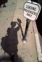 My shadow on the sidewalk, los angeles, fotografo milano