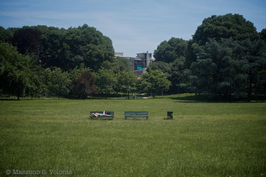 Sun bath in the park, fotografo milano
