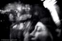 Dazed and confused scene of night clubbing, black and white, volonte fotografo milano