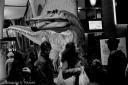 Dinosaur in town!, Black and white, Volonte fotografo Milano