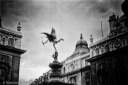 The Angel of Christian Charity, Piccadilly Circus, London, Black and white, Volonte fotografo milano