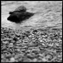 Monochrome, gravel on the shore, Volonte fotografo Milano